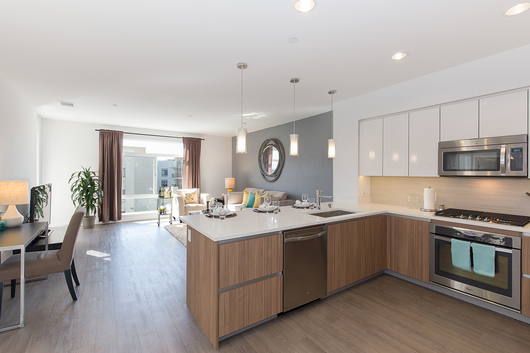 Kitchen in corporate housing apartment